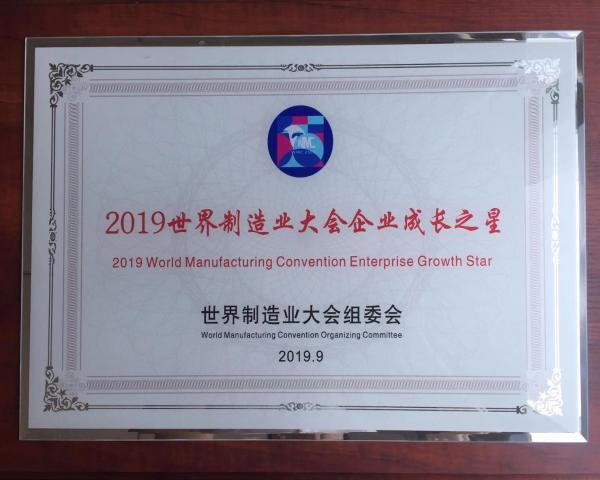 """必威亚洲体育化工喜获""""2019世界制造业大会企业成长之星"""""""